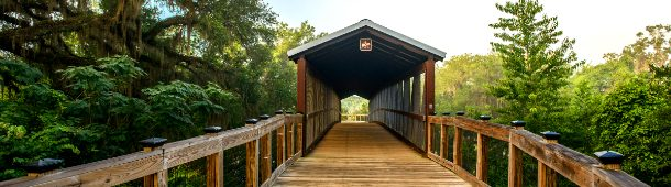 covered bridge on Lafayette heritage trail