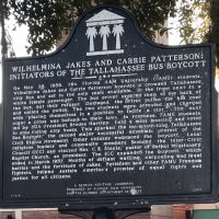 Wilhelmina Jakes and Carrie Patterson Historic Marker