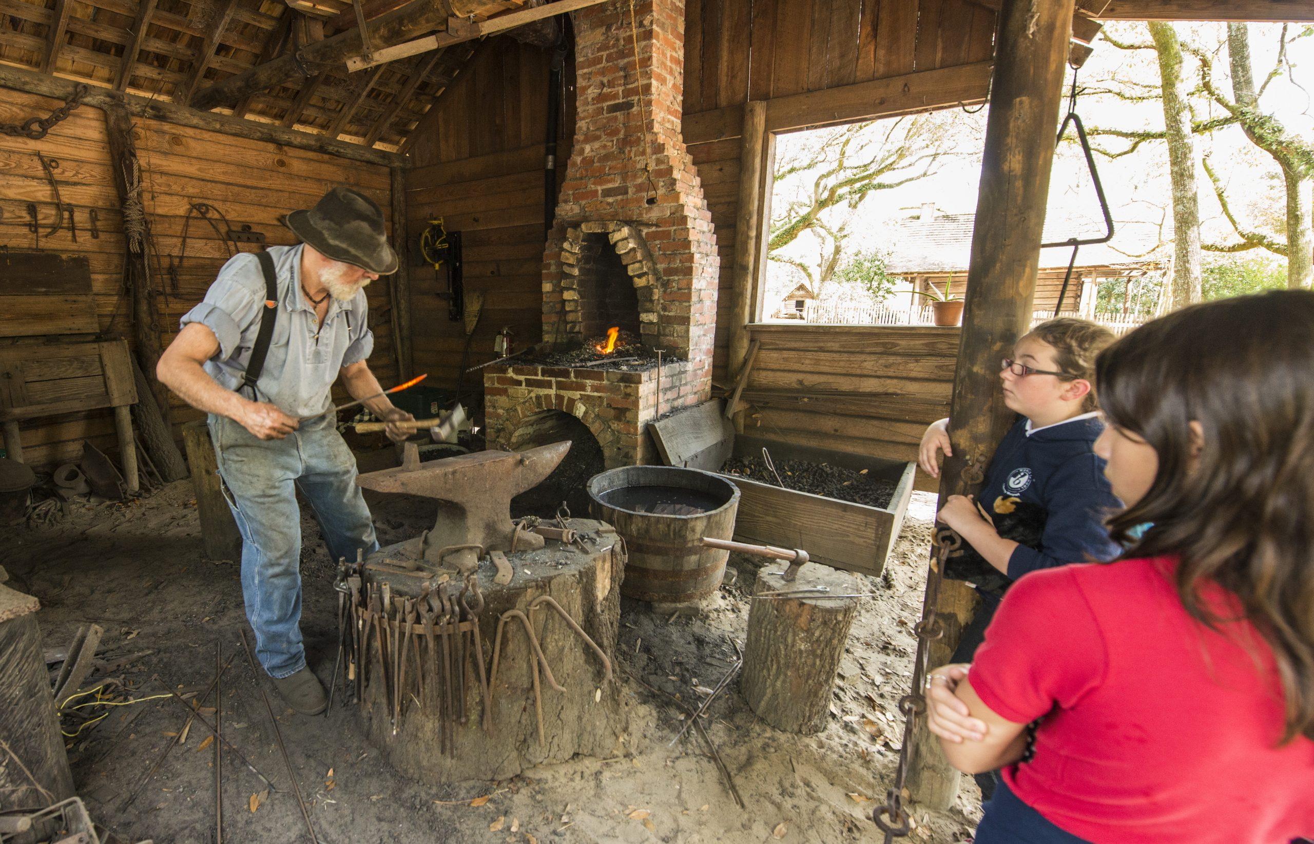 blacksmith at the Tallahassee Museum