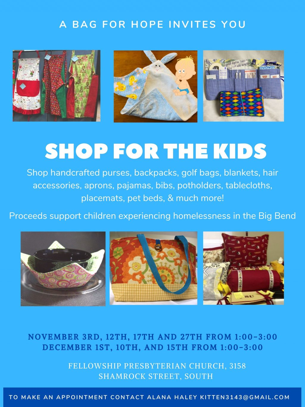 Shop for the Kids – A Bag for HOPE