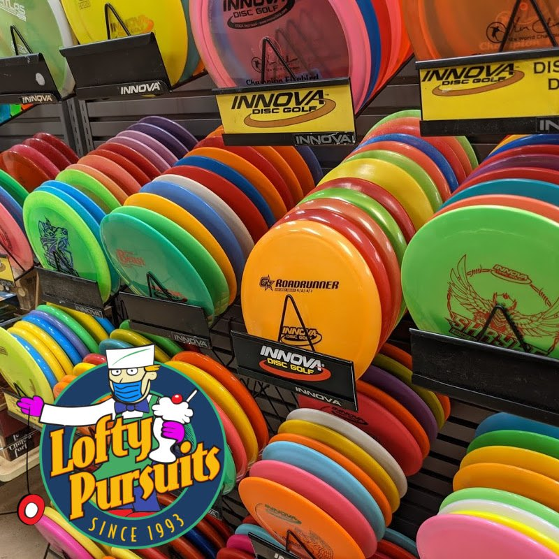 Disc Golf Disc display at lofty pursuits