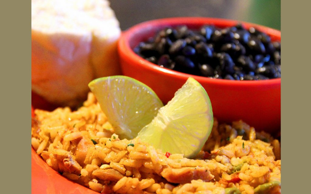 rice and beans at carlo's cuban cafe